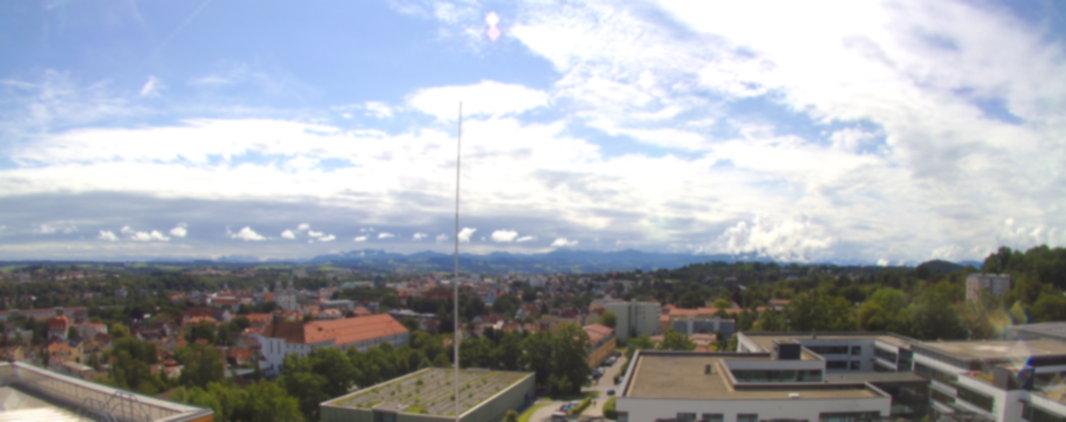 Webcam auf dem Klinikum Kempten. Die Kamera zeigt nach Süden Richtung Allgäuer Alpen.